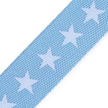 Galanterie: Lampas / popruh hvězdy šíře 19 mm - modrá