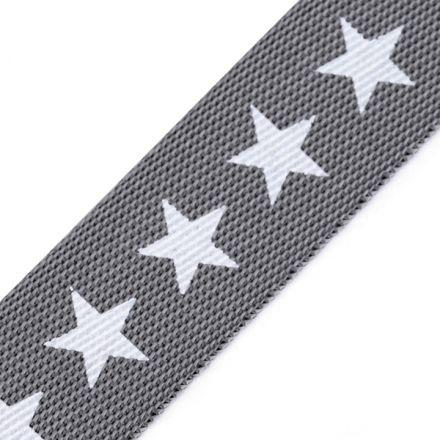 Galanterie: Lampas / popruh hvězdy šíře 19 mm - šedá