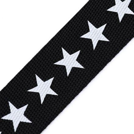 Galanterie: Lampas / popruh hvězdy šíře 19 mm - černá