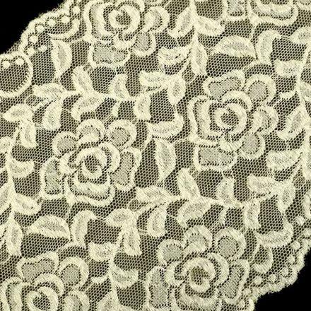 Galanterie: Elastická krajka šíře 16 cm - krémová