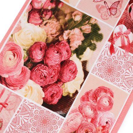 Metráž: Bavlněné vaflové piké (1ks) - růže