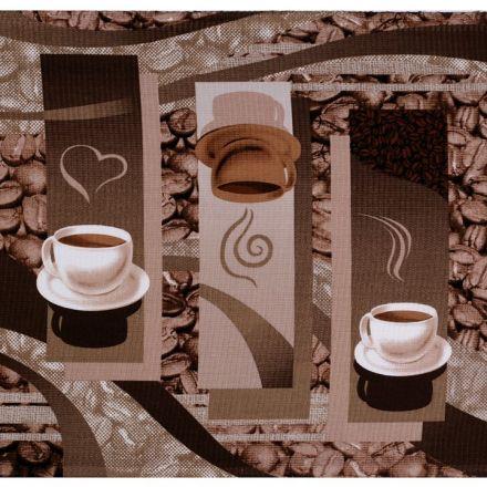 Metráž: Bavlněné vaflové piké (1ks) - káva