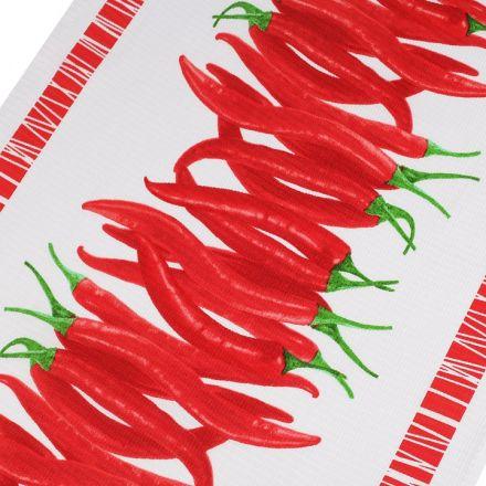 Metráž: Bavlněné vaflové piké (1m) - papričky