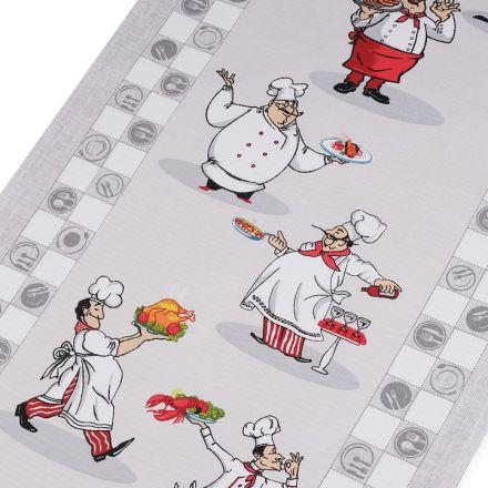 Metráž: Bavlněné vaflové piké (1m) - kuchař