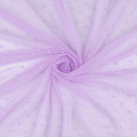 Metráž: Elastický tyl s puntíky - lila