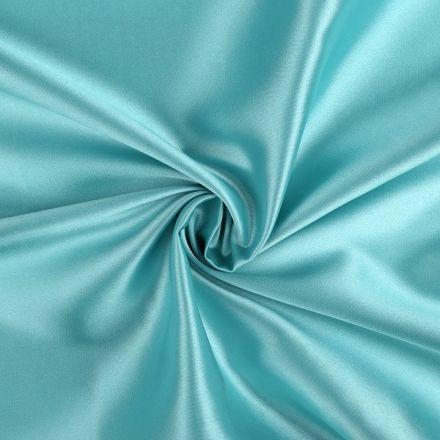 Metráž: Satén elastický - tyrkysová