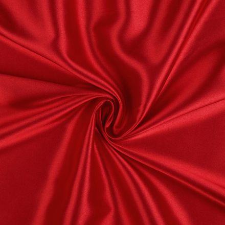 Metráž: Satén elastický - červená