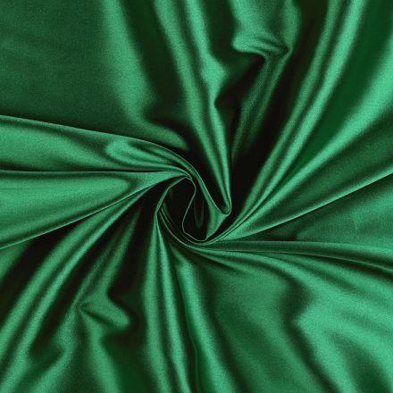 Metráž: Satén elastický - smaragdová