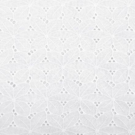 Metráž: Bavlněná madeira šíře 150 cm - bílá