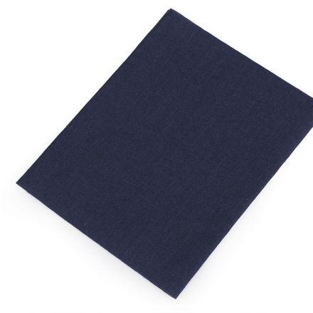 Galanterie: Nažehlovací záplaty 17x45 cm - tmavě modrá