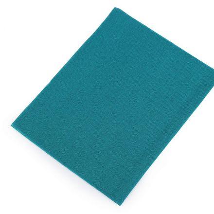 Galanterie: Nažehlovací záplaty 17x45 cm - tyrkysová