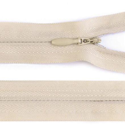 Galanterie: Skrytý zip nedělitelný 60 cm - krémová