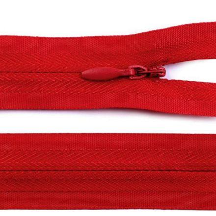 Galanterie: Skrytý zip nedělitelný 60 cm - červená