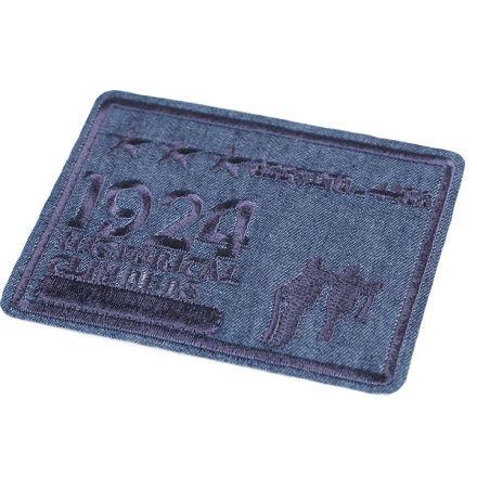 Galanterie: Nažehlovačka 7x8,5 cm - modrá