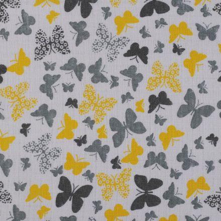 Metráž: Bavlněná plenkovina šíře 80 cm - motýli