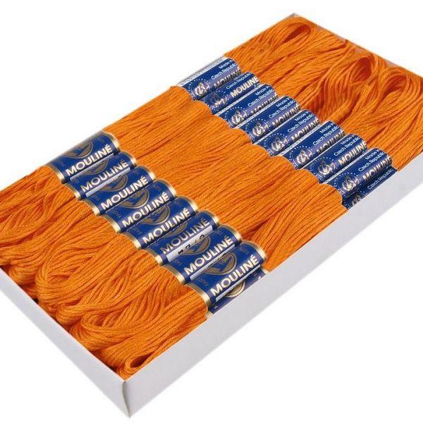 Příze vyšívací Mouline (1ks) - oranžová