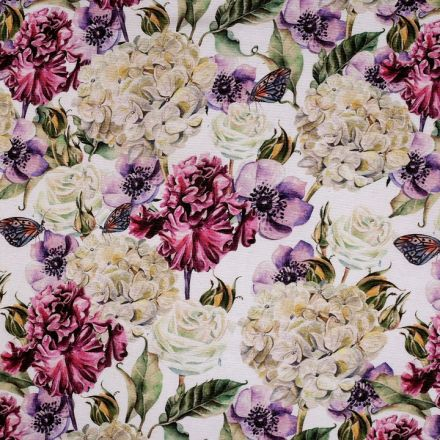 Metráž: Dekorační látka šíře 140 cm - květy