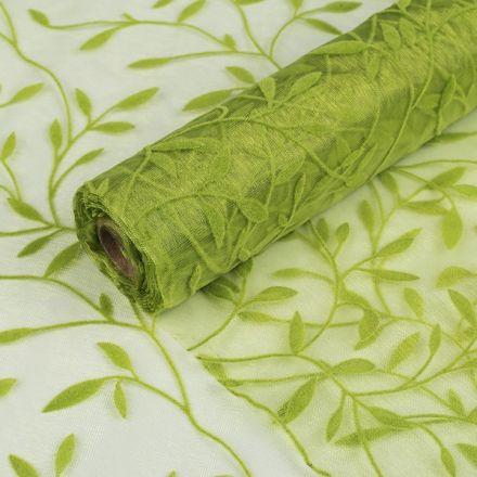 Galanterie: Organza šíře 150 cm - zelená