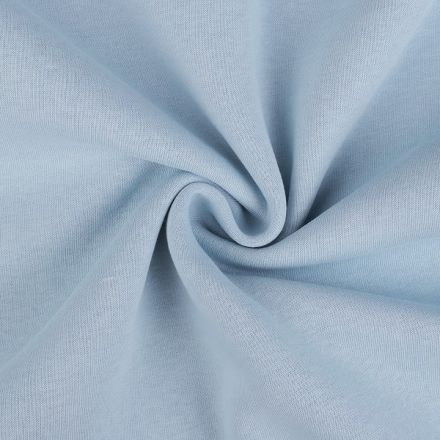Metráž: Teplákovina počesaná šíře 180 cm - sv.modrá