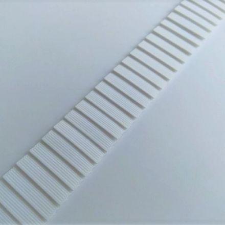 Galanterie: Plisovaný rypsový prýmek šíře 3 cm - bílá