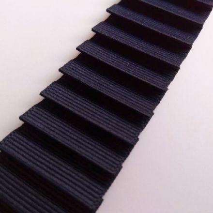 Galanterie: Plisovaný rypsový prýmek šíře 3 cm - modrá