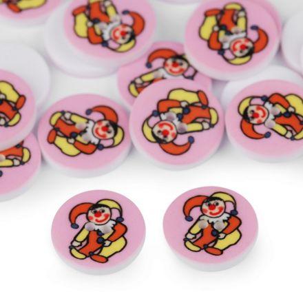 Galanterie: Knoflík plastový 15,4 mm kašpárek - růžová