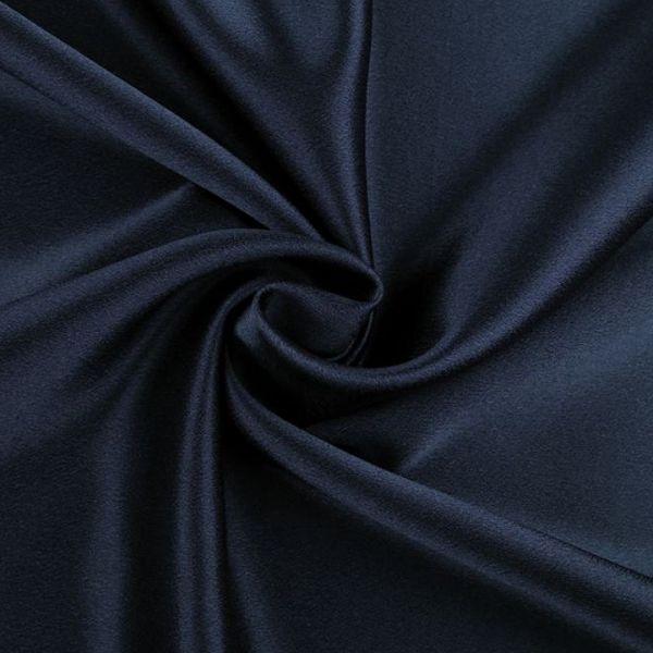 Satén krešovaný šíře 145 cm - tmavě modrá