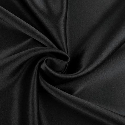 Metráž: Satén krešovaný šíře 145 cm - černá