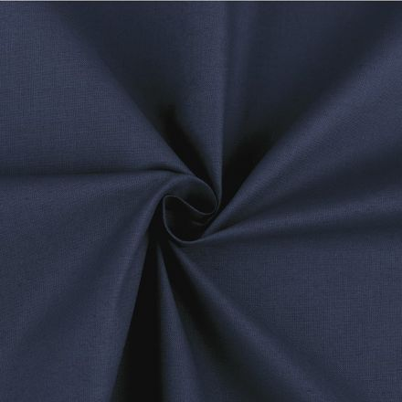 Metráž: Bavlněná látka šíře 160 cm - tmavě modrá