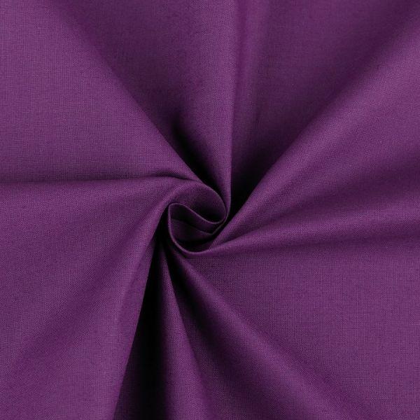 Bavlněná látka šíře 160 cm - tmavě fialová