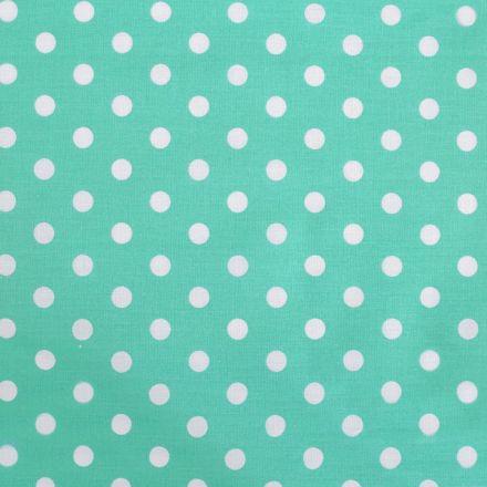 Metráž: Bavlněná látka puntíky - mintová