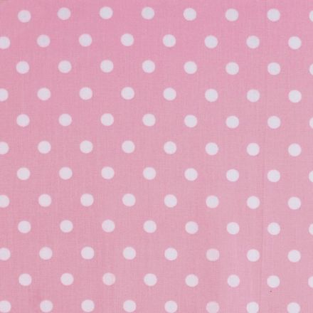 Metráž: Bavlněná látka puntíky - růžová