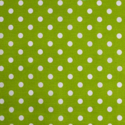 Metráž: Bavlněná látka puntíky - zelená