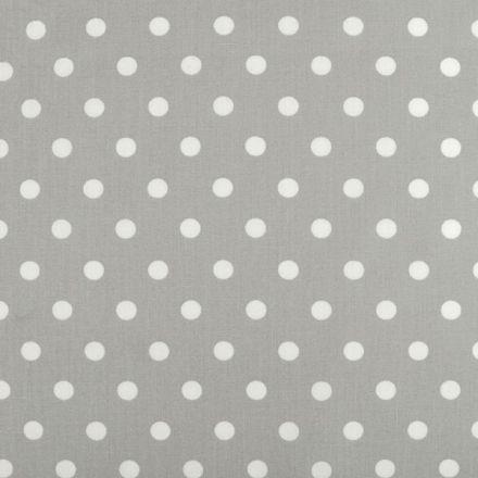 Metráž: Bavlněná látka puntíky - šedá