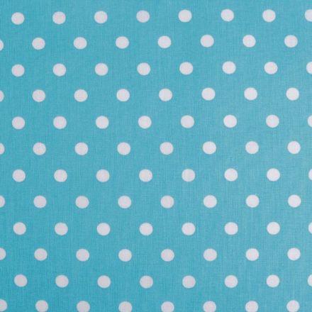 Metráž: Bavlněná látka puntík - modrá azurová