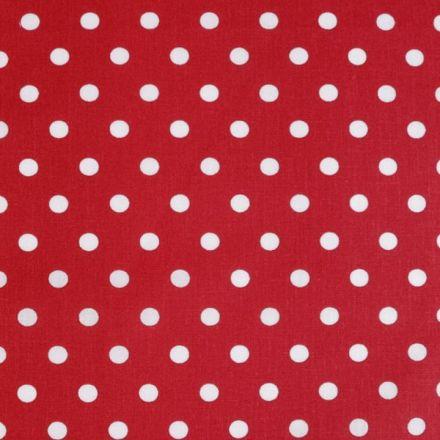 Metráž: Bavlněná látka puntík - červená