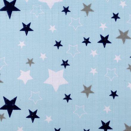 Metráž: Bavlněná plenkovina šíře 80 cm - hvězdy