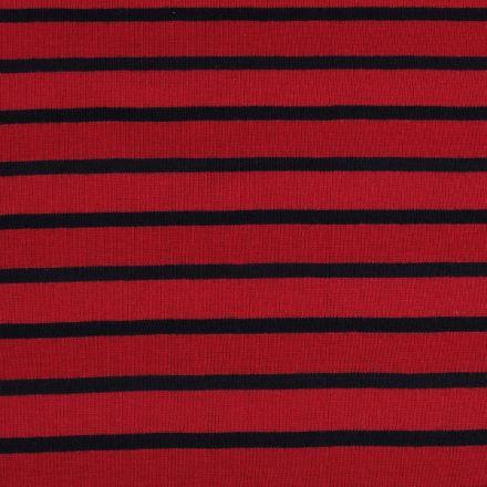 Metráž: Úplet bavlněný - tmavě červená/modrá