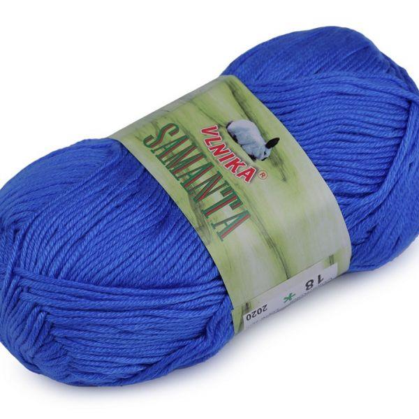 Pletací příze Samanta 50 g - modrá