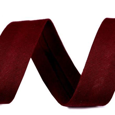 Galanterie: Šikmý proužek elastický šíře 20 mm - bordó