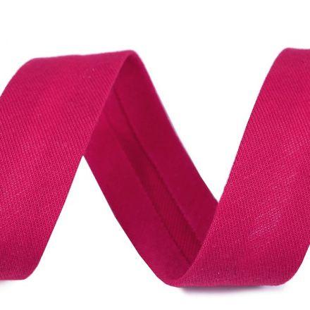 Galanterie: Šikmý proužek elastický šíře 20 mm - pink