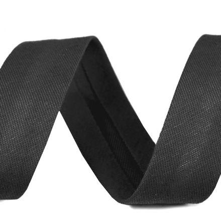 Galanterie: Šikmý proužek elastický šíře 20 mm - tmavě šedá