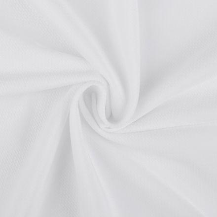 Metráž: Velvet strukturovaný - bílá