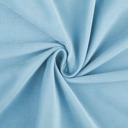 Metráž: Velvet strukturovaný - světle modrý