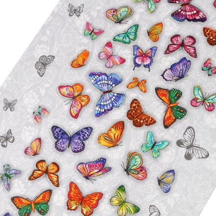 Metráž: Bavlněné vaflové piké (1m) - motýl