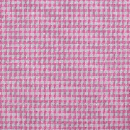 Metráž: Bavlněná látka káro - růžová
