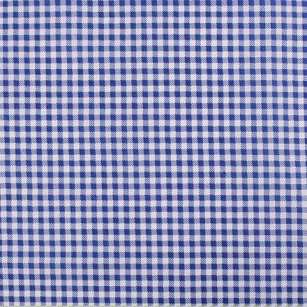 Metráž: Bavlněná látka káro - modrá