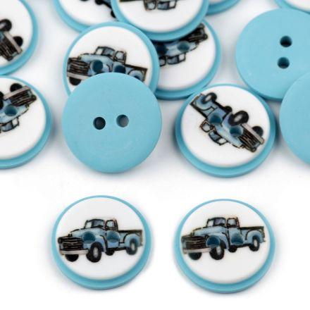 Galanterie: Knoflík plastový 15,4 mm - auto