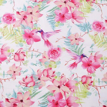 Metráž: Bavlněná látka květy