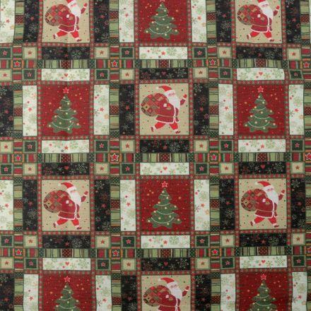 Metráž: Dekorační látka vánoční
